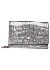 Alexander McQueen Metallic Calfskin Leather Crossbody Bag