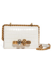 Alexander McQueen Mini Jewelled Knuckle Leather Crossbody Bag