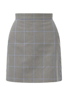 Alexander McQueen Prince of Wales-check twill mini skirt