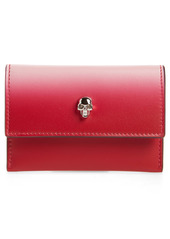 Alexander McQueen Skull Ombré Leather Card Case