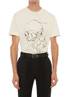 Alexander McQueen Skull Sketch Graphic Tee