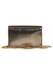 Alexander McQueen Small Skull Lizard Embossed Leather Shoulder Bag