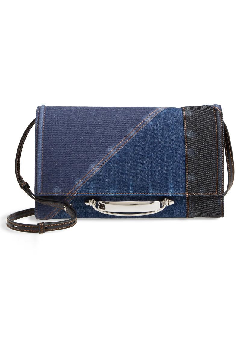 Alexander McQueen Small Story Patchwork Denim Crossbody Bag