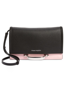 Alexander McQueen Small The Story Colorblock Leather Crossbody Bag