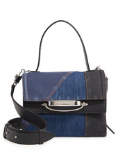 Alexander McQueen Story Patchwork Denim Crossbody Bag