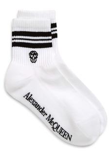 Alexander McQueen Stripe Skull Socks