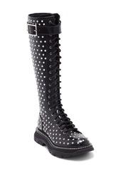 Alexander McQueen Studded Lace-Up Knee High Boot (Women)