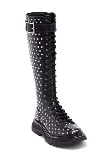 Alexander McQueen Studded Lace-Up Knee High Boot (Women)