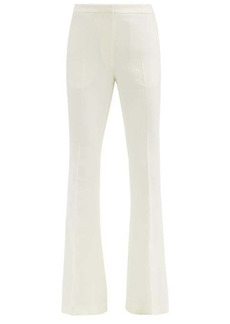 Alexander McQueen Tailored wool-blend flared trousers