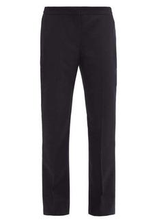 Alexander McQueen Tailored wool-flannel straight-leg trousers