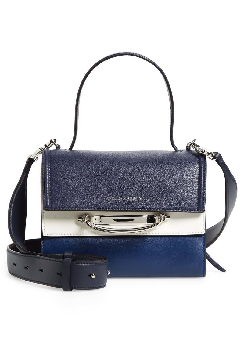 Alexander McQueen The Story Colorblock Leather Shoulder Bag