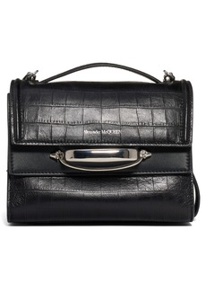 Alexander McQueen The Story Croc Embossed Calfskin Leather Bag
