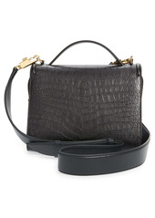 Alexander McQueen The Story Croc Embossed Leather Bag