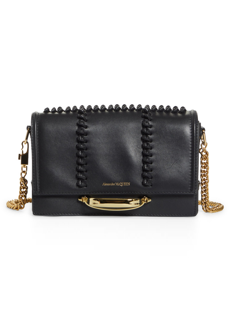 Alexander McQueen The Story Knotted Leather Shoulder Bag