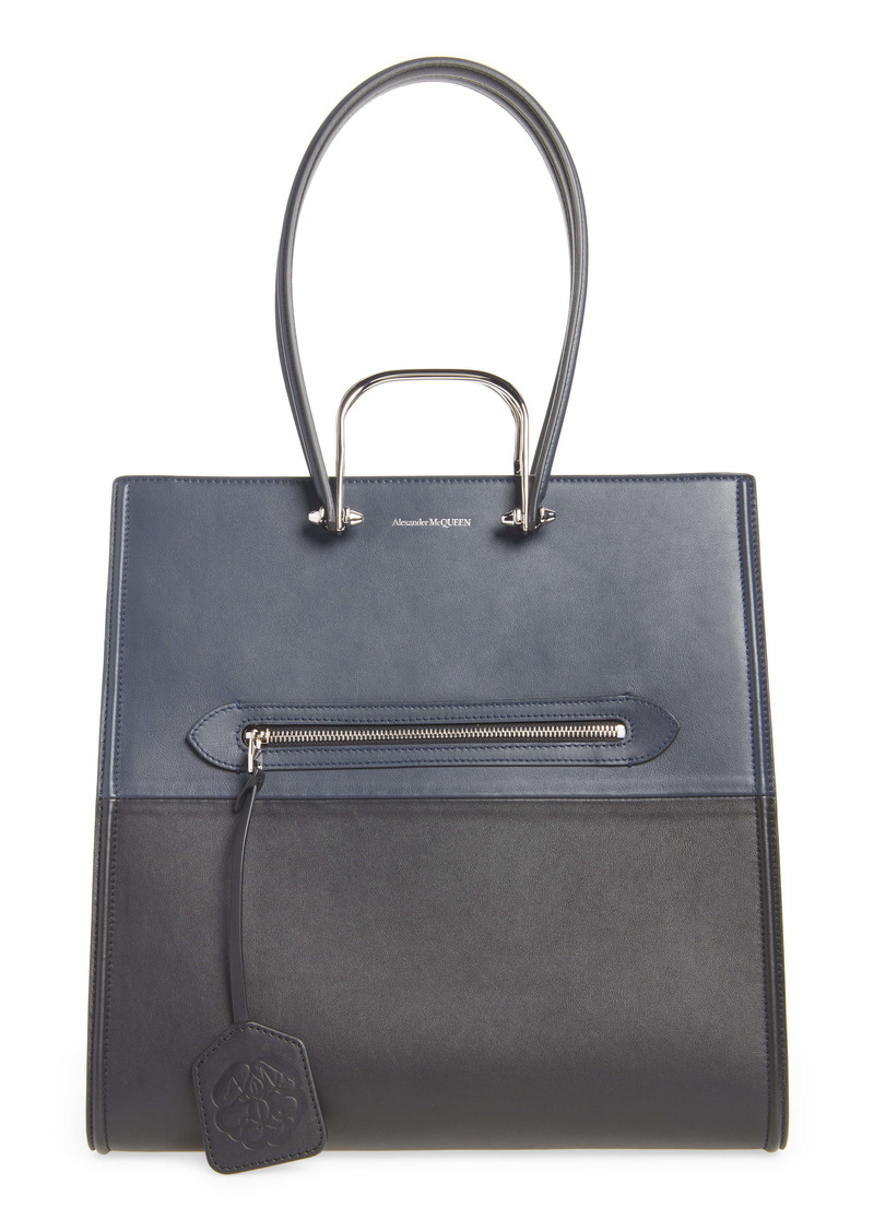 Alexander McQueen The Tall Story Colorblock Leather Tote