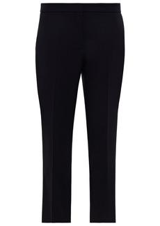 Alexander Mcqueen Woman Cropped Wool-twill Straight-leg Pants Navy