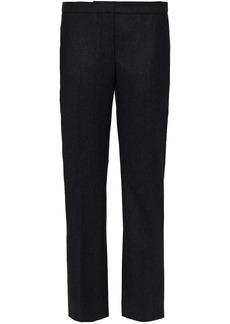 Alexander Mcqueen Woman Wool-flannel Straight-leg Pants Black