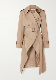 Alexander McQueen Asymmetric Cotton-gabardine Trench Coat