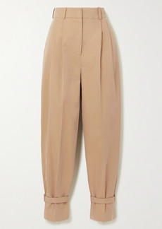 Alexander McQueen Buckled Cotton-twill Tapered Pants