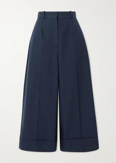 Alexander McQueen Cropped Cotton Wide-leg Pants