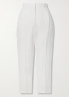 Alexander McQueen Cropped Grain De Poudre Wool Slim-leg Pants