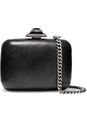 Alexander McQueen Crystal-embellished Leather Shoulder Bag