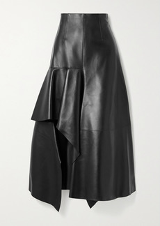 Alexander McQueen Draped Leather Skirt