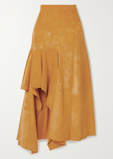 Alexander McQueen Draped Suede Skirt