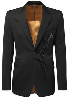 Alexander McQueen Floral Embroidery Jacket
