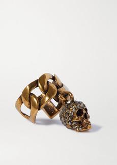 Alexander McQueen Gold-tone Crystal Ear Cuff