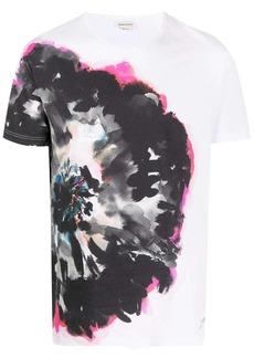 Alexander McQueen ink floral print T-shirt