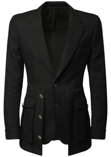 Alexander McQueen Layered Wool Jacket