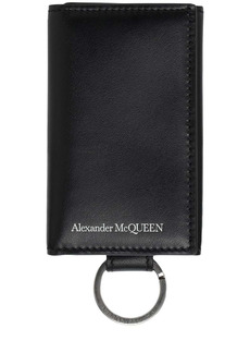 Alexander McQueen Logo Leather Keychain