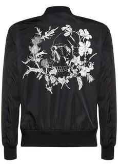 Alexander McQueen Logo Skull Nylon Casual Jacket