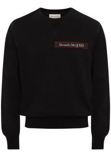 Alexander McQueen Logo Tape Cotton Sweatshirt