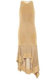 Alexander McQueen Metallic knit midi dress