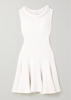 Alexander McQueen Ribbed Wool Mini Dress