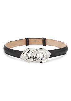 Alexander McQueen Sculptural Link Leather Belt