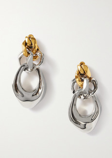 Alexander McQueen Silver And Gold-tone Earrings