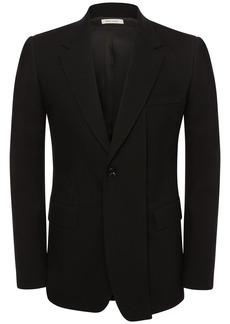 Alexander McQueen Single Breast Wool Gabardine Jacket