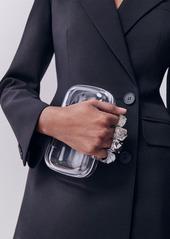 Alexander McQueen Skull Four Ring Plexi Clutch