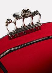 Alexander McQueen Skull Four Ring Studded Clutch