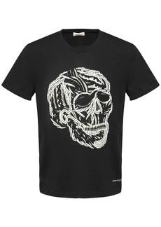 Alexander McQueen Skull Logo Print Cotton T-shirt
