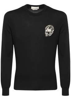 Alexander McQueen Skull Patch Wool Knit Sweater