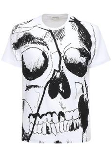 Alexander McQueen Skull Print Cotton T-shirt