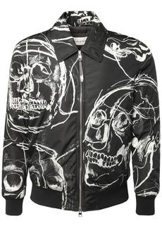Alexander McQueen Skull Print Nylon Jacket
