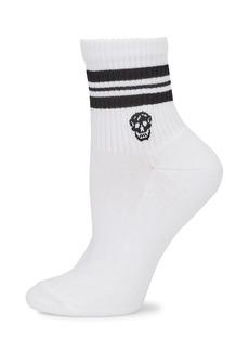 Alexander McQueen Skull Striped Crew Socks