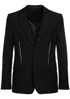 Alexander McQueen Slashed Japanese Wool Gabardine Jacket