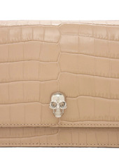 Alexander McQueen Small Skull Croc Embossed Leather Bag