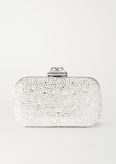 Alexander McQueen Spider Faux Pearl And Crystal-embellished Satin Clutch
